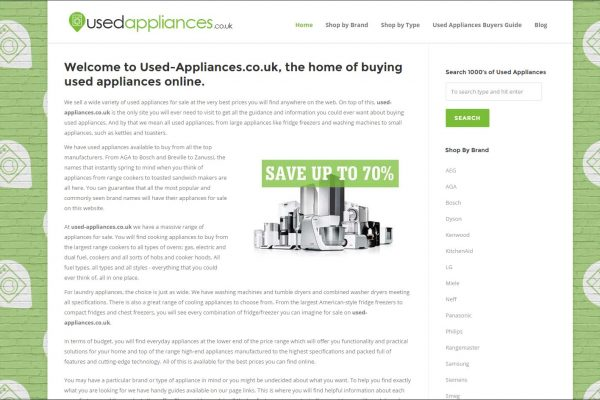 Used Appliances Website